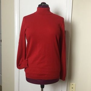 NWOT Talbots Pullover turtle neck Red Sweater